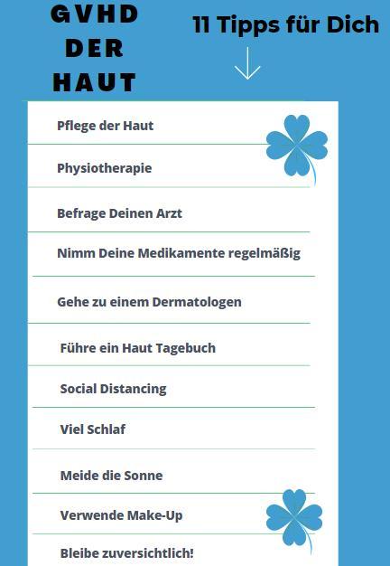 GvHD der Haut 11 Tipps